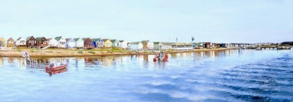 'Beach Hut Reflections' (Right Hand Side)