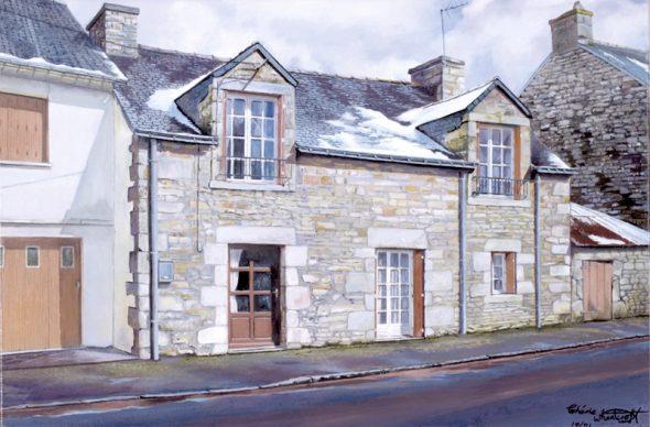 La Grande Rue, Ploërdut, Brittany