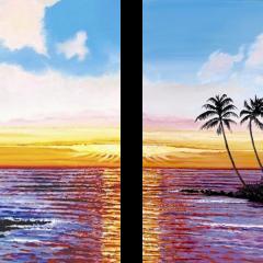 Tropical Palms (split)